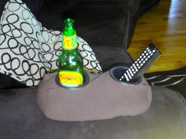 Drink Holder- Weighted Cup Holder- The Beanie Baby for Your Beer! (Brown)