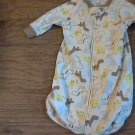 Carter's baby boy or girl animals print jumpsuit sack 0-9 mos
