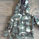 0-3 mos Garanimals boy's green camo jacket hoodie