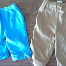 2 piece baby boy's blue and brown pants 6-9 mos