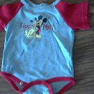 Disney baby boy's Mickey Mouse gray & red Bodysuit 3-6 mos