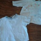 Baby boy's 2 piece shirt 0-9 mos