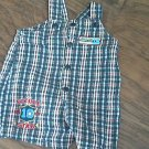 Frist Monents baby boy blue,red,white plaids overall 6-9 mos