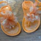Cinderella toddler girl's orange flowers  sandals size 6