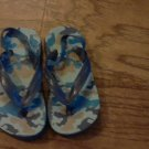 Blue camo baby boy or girl  flip flops size 6 1/2