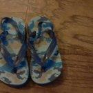 Blue camo baby boy or girl  flip flops size 6 1/2