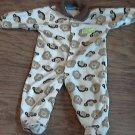 Carter's baby boy's monkeys print long sleeve sleepwear/outfit 6-9 mos