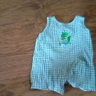 24 mos baby boy's blue and green plaids romper