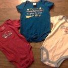 Lot of 3 baby boy's bodysuit 0-3 mos