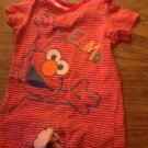 Sesame Street Elmo baby boy's red and white striped bodysuit 6-9 mos