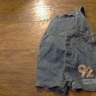 Chrokee baby boy's denim blue overall 12 mos