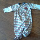 Carter's baby boy's blue,red,white striped long sleeve bodysuit 9 mos