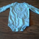 New Carter's baby boy's blue and white striped bodysuit 0-3 mos
