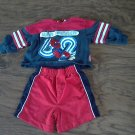 Baby boy's superman red and navy long sleeve sweater short set 12-18 mos