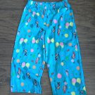 Toddler girls blue monkeys prints pajama pant 3T