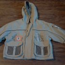 Big Chill Outwear baby boy's tan hooded jacket 12 mos
