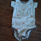 Carter's baby boy's white sports oneise 6-9 mos