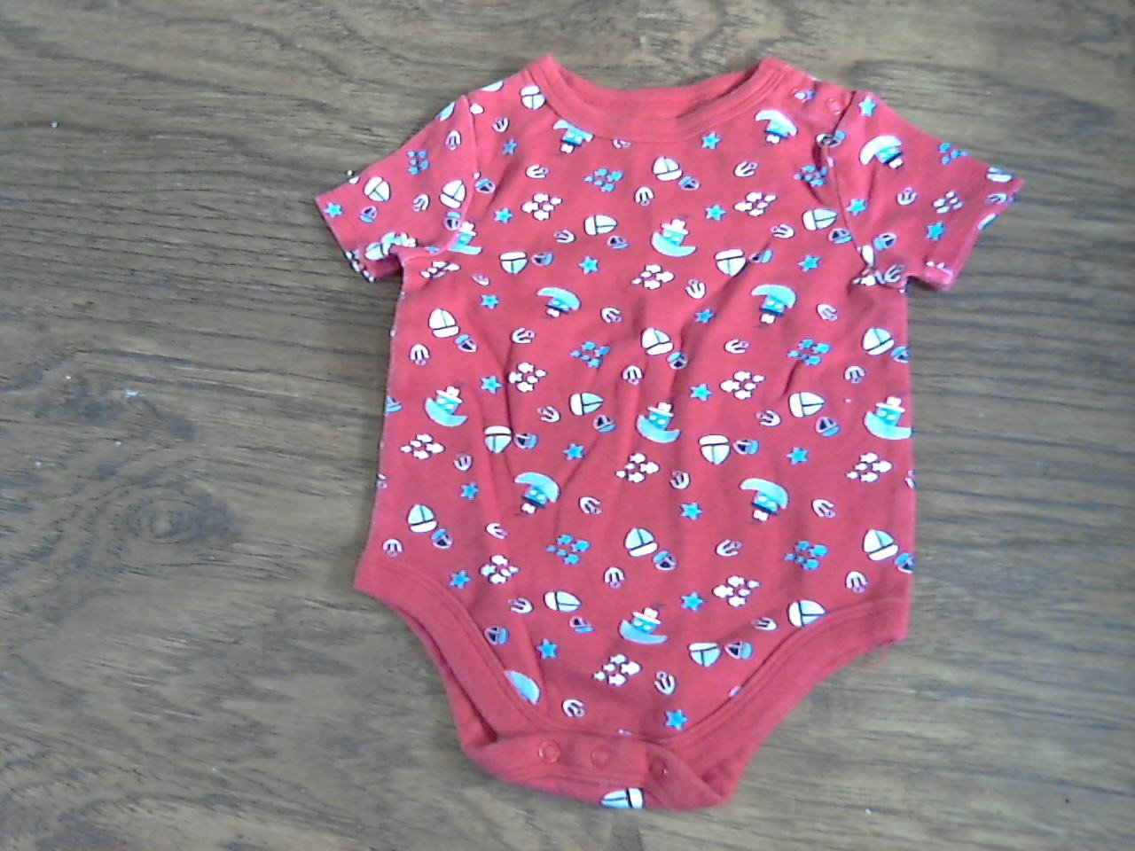 Garanimals baby boy's red short sleeve bodysuit 3-6 mos