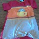 Okie-Dokie baby boy's red short sleeve bodysuit 24 mos