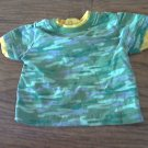 Baby boy's green camo short shirt 6-9 mos