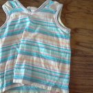Old Navy toddler girl's blue,yellow,pink striped sleeveless shirt 2T