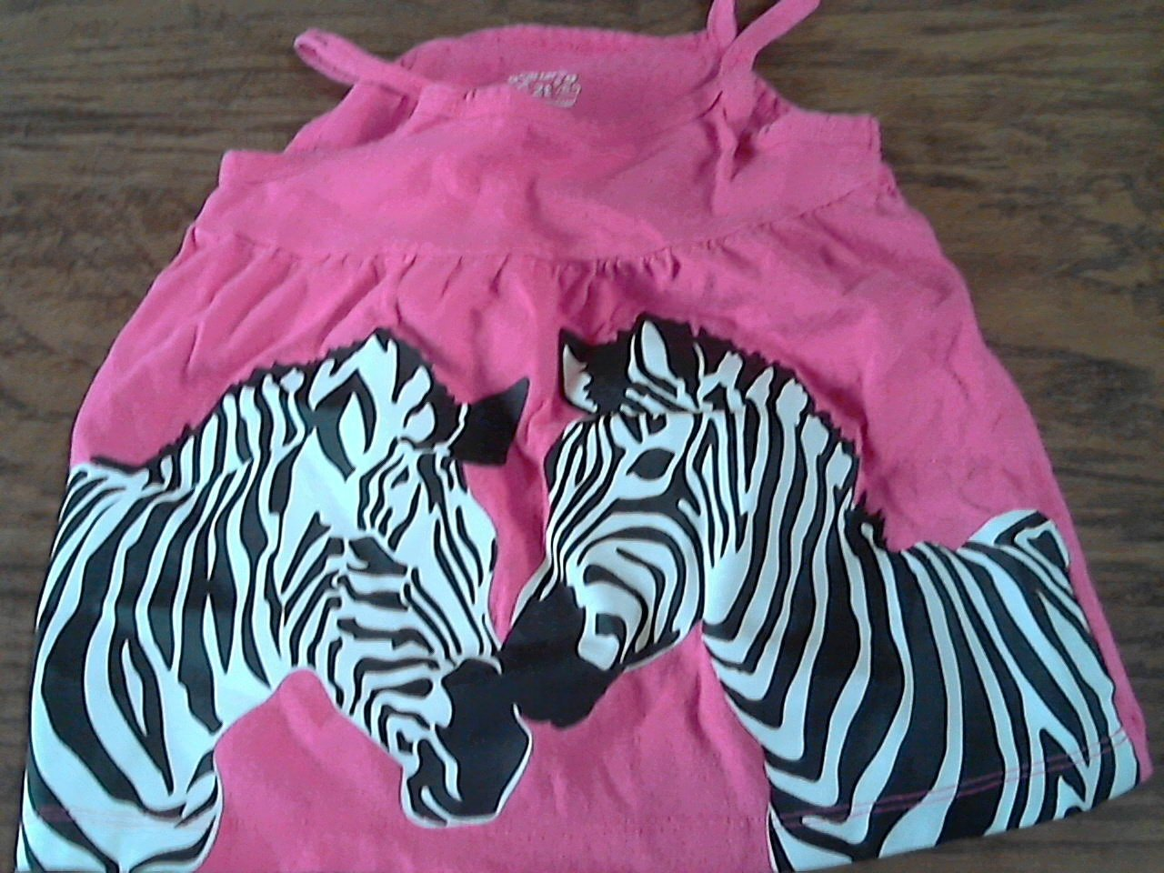 Carter's todder girl's hot pink string top 2T