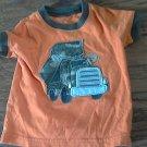 Carter's baby boy's orange short sleeve shirt 3-6 mos