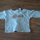 Miniwear baby boy's gray long sleeve shirt 6-9 mos