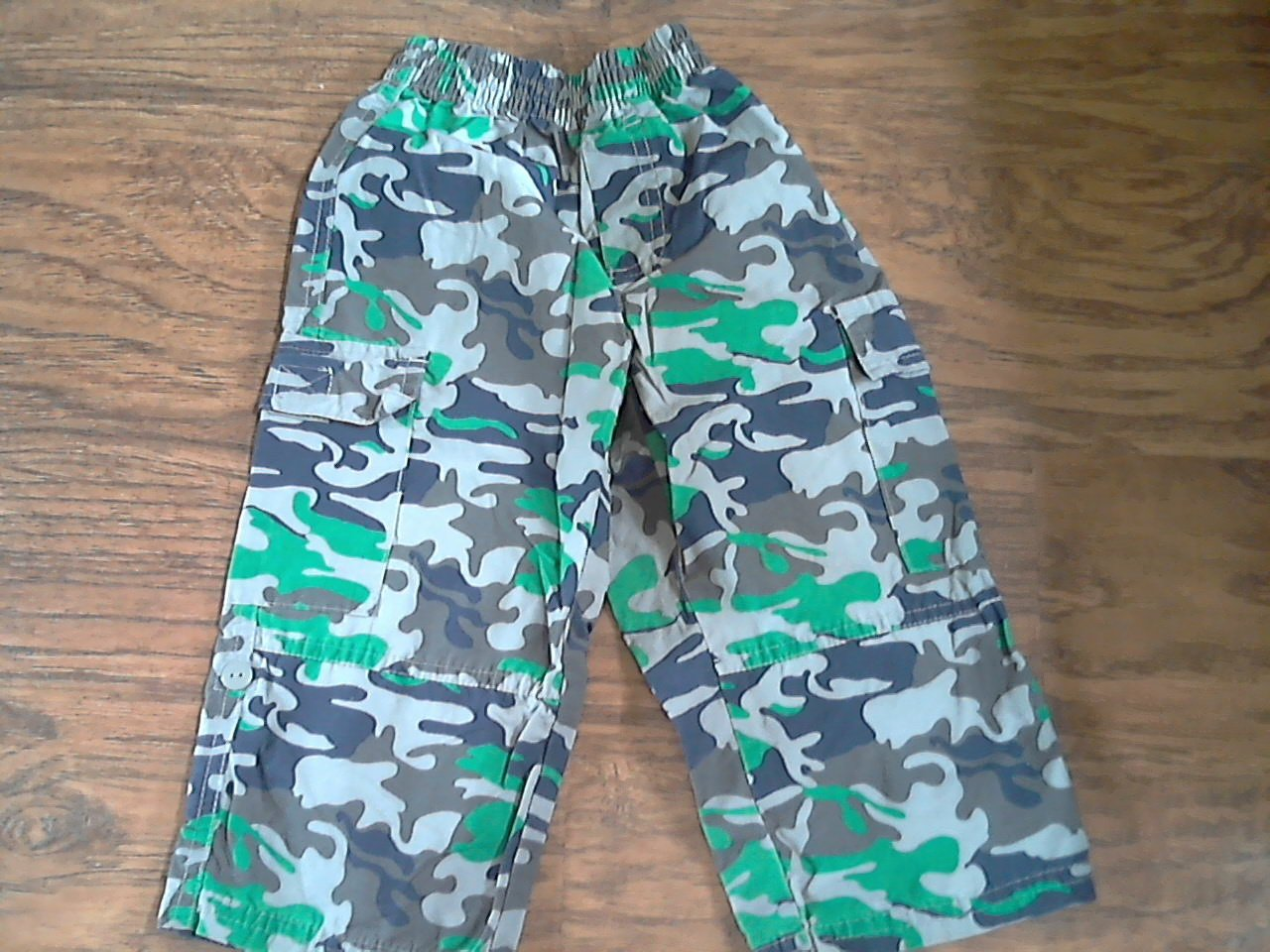 Thomas & Friends Baby boy's blue and green camo pant 24 mos