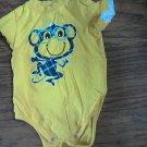 Okie Dokie baby boy's yellow short sleeve bodysuit 6-9 mos