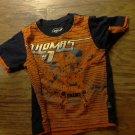 Thomas & Friends baby boy orange and navy short sleeve shirt 24 mos