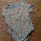 Garanimals baby boy's blue fishes and losber bodysuit 6-9 mos