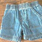 Garanimals baby boy's dark denim elastic waist short 12 mos