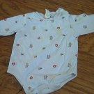 baby boy's blue sports long sleeve bodysuit 9 mos