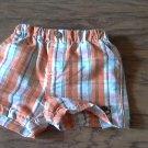 Timberland baby boy's orange and black plaids short 12 mos