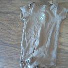 Carter's baby boy or girl brown bodysuit 12 mos