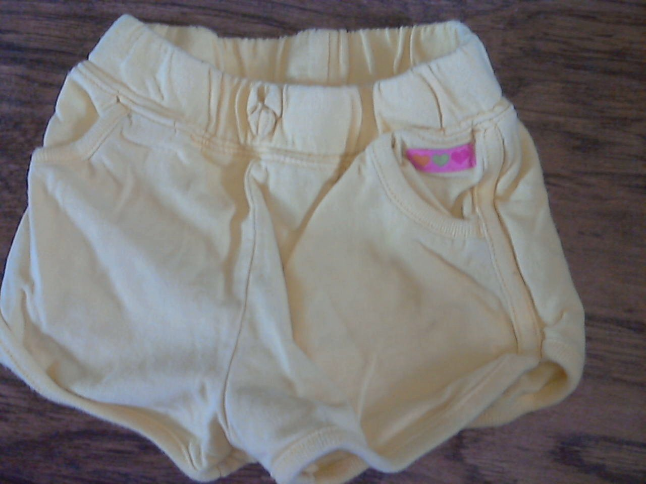 Carter's baby girl's yellow elastic waist short 24 mos