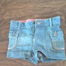Genuinekids baby girls blue jean short 18 mos