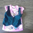 Ransom Girl's pink and black vest shirt size 5T