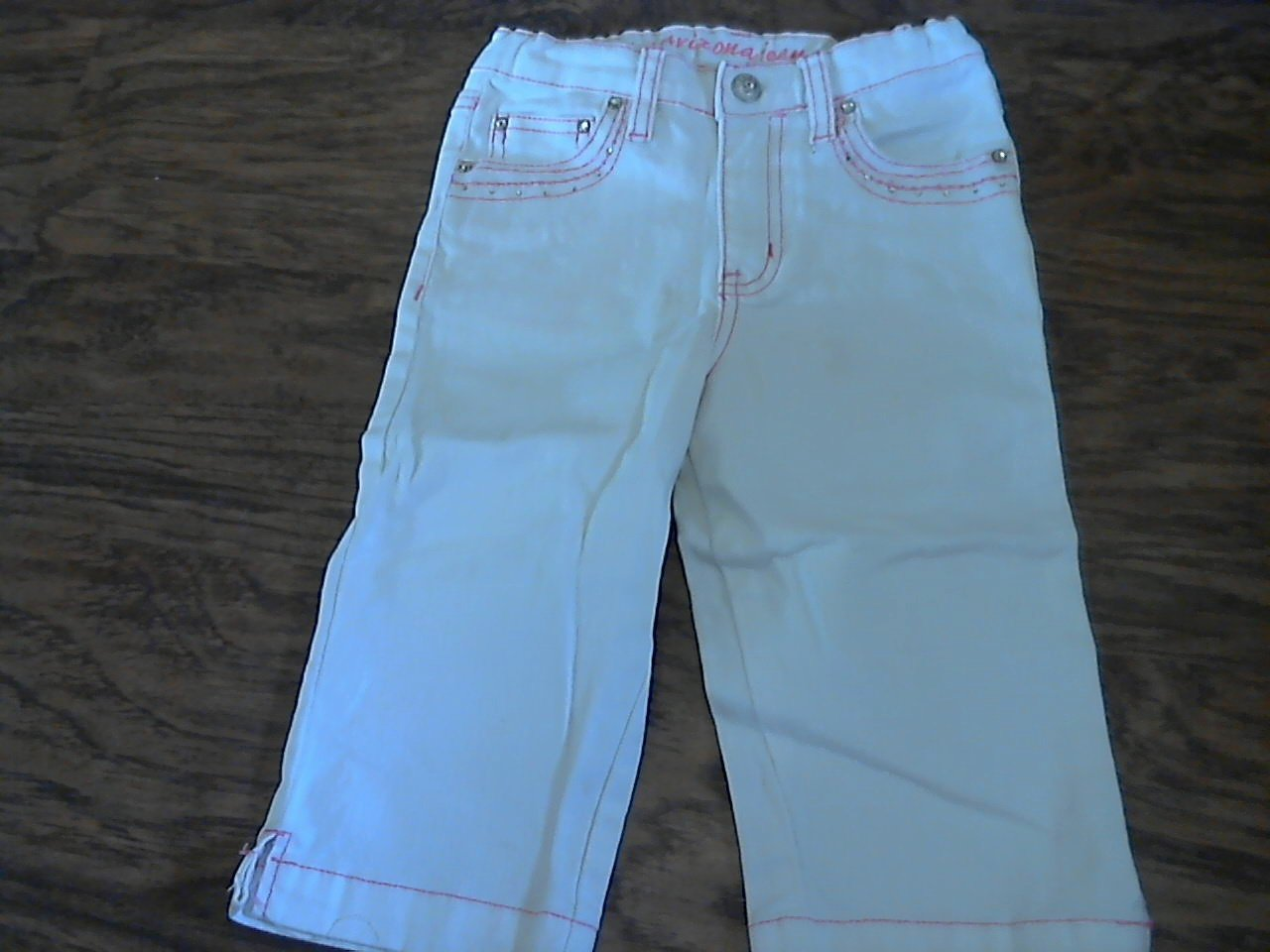 Arizona Jean girl's white jean pant size 6x/ slim