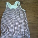 Faded Glory girl's purple and white striped tank size 6/6x