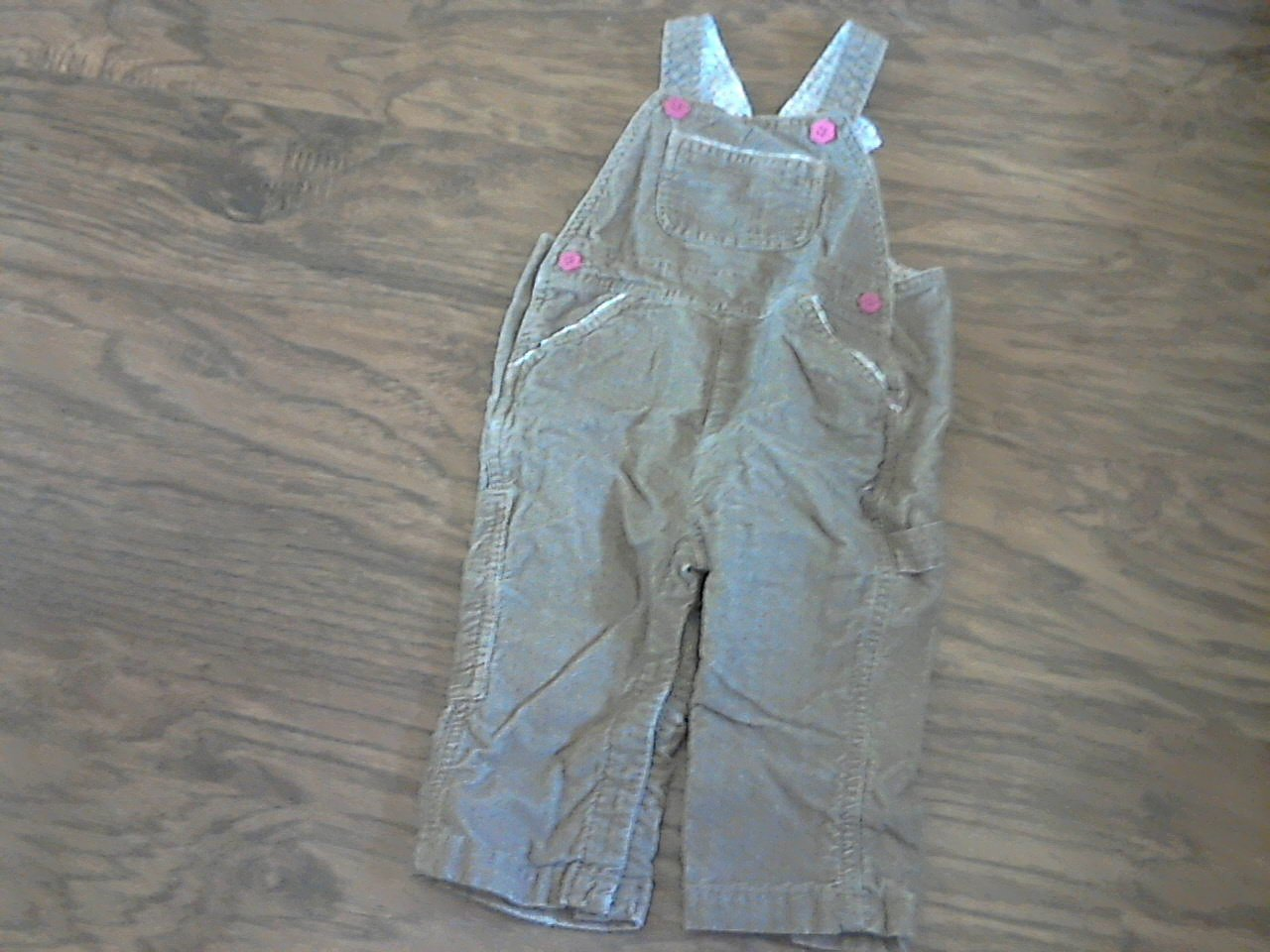 Gap baby girl's brown overall 12-18 mos