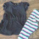 Faded Glory toddler girl's purple peony short sleeve shirt pant set 3T