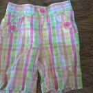 Circo toddler girl's pink,orange,lime striped capri 3T