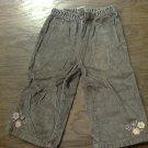 Baby girl's brown elastic waist pant 12-18 mos