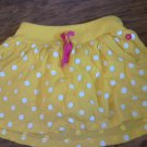 Carter's toddler girl's yellow waistband skirt 4T