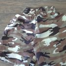 Max Grey baby boy's brown camo elastic waist short 12-18 mos