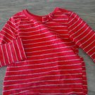 Garanimals girl's red and sliver striped long sleeve shirt 3T