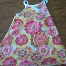 Faded Glory girl's brown,yellow, pink flowers string dress 3T