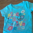 Tickle Me! girl's blue short sleeve top 4T